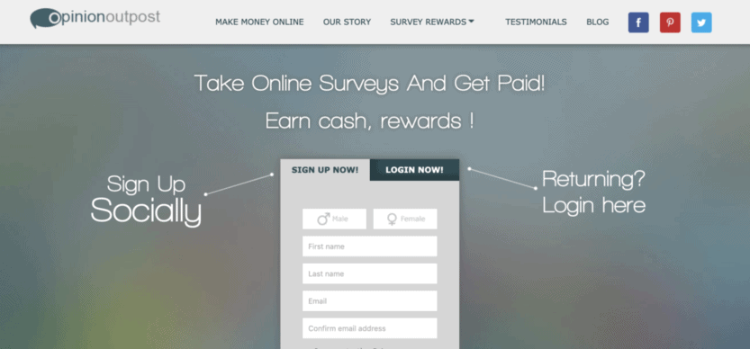 Opinion Outpost is the first site with the highest paying surveys 2021.